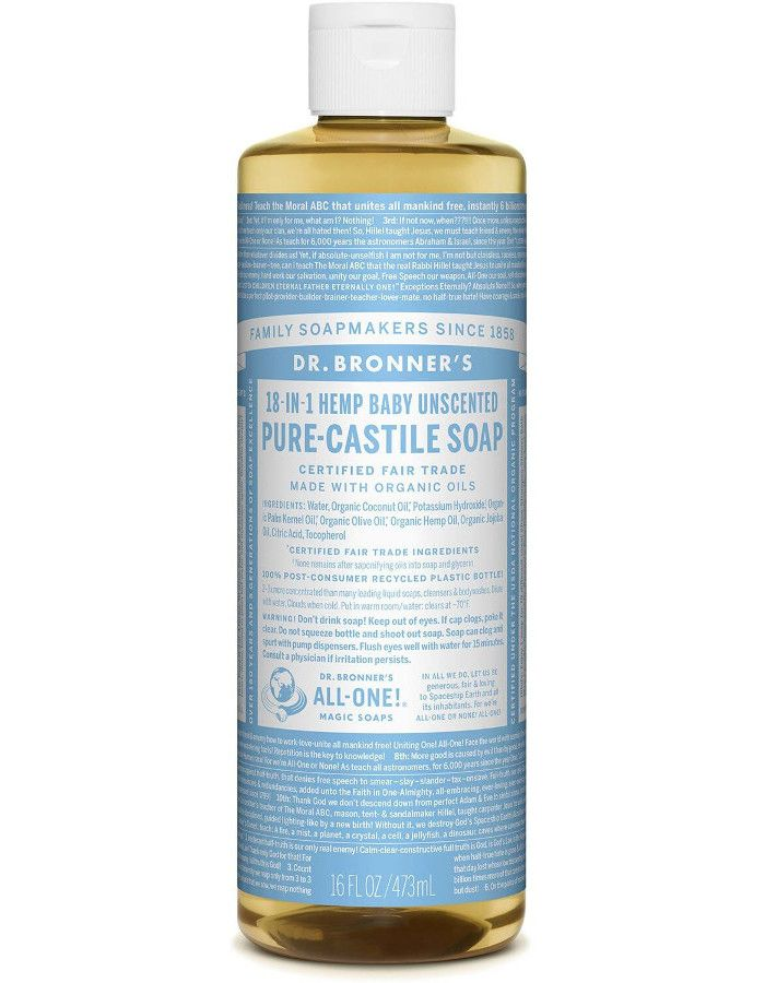Dr Bronners All In One Liquid Soap Baby Mild Ongeparfumeerd 473ml