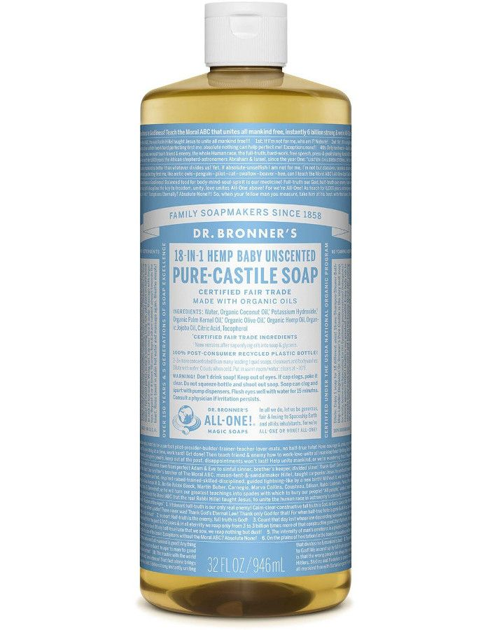 Dr Bronners All In One Liquid Soap Baby Mild Ongeparfumeerd 946ml