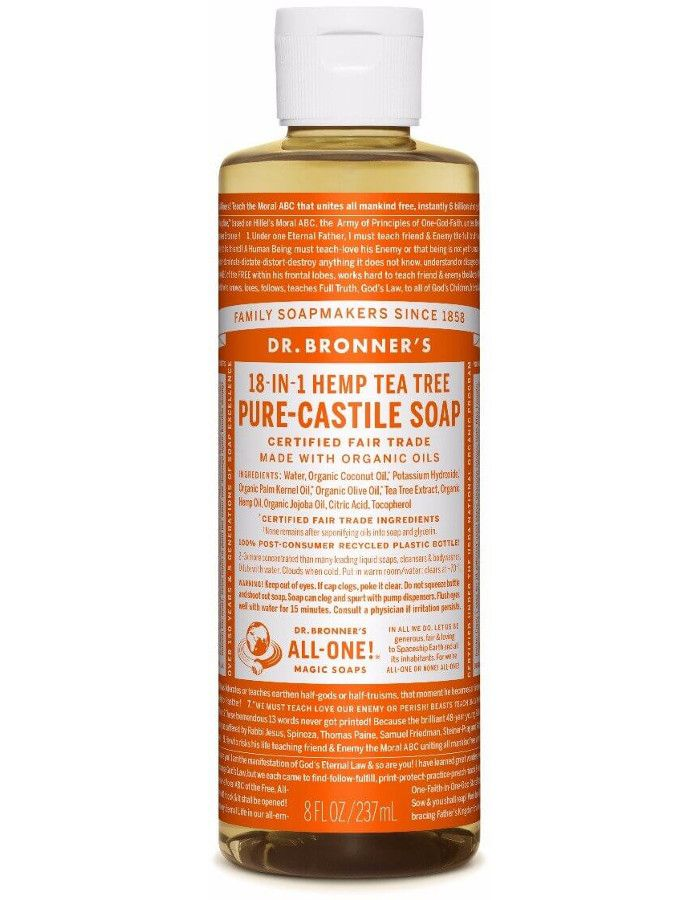 Dr Bronners All In One Liquid Soap Tea Tree 237ml
