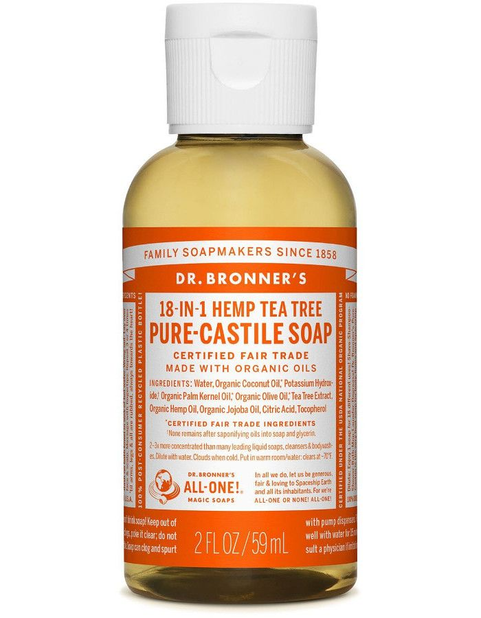 Dr Bronners All In One Liquid Soap Tea Tree 59ml