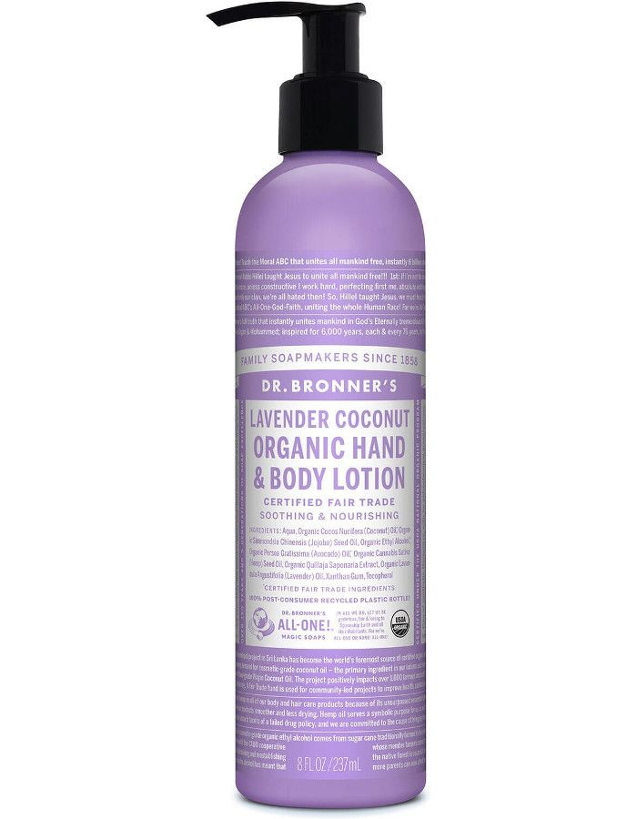 Dr Bronners Organic Hand & Bodylotion Lavendel Coconut 237ml
