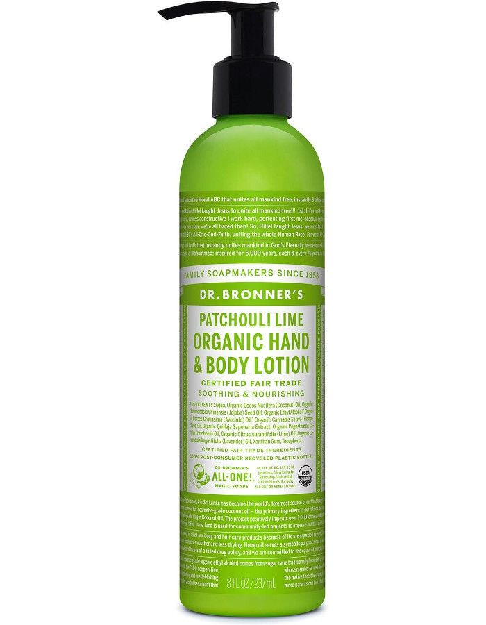 Dr Bronners Organic Hand & Bodylotion Patchouli Lime 237ml