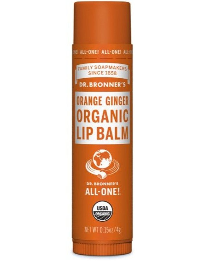 Dr Bronners Organic Lipbalm Orange Ginger