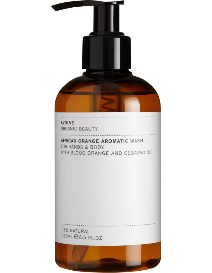 Evolve Organic Beauty African Orange Aromatic Hand & Body Wash 250ml