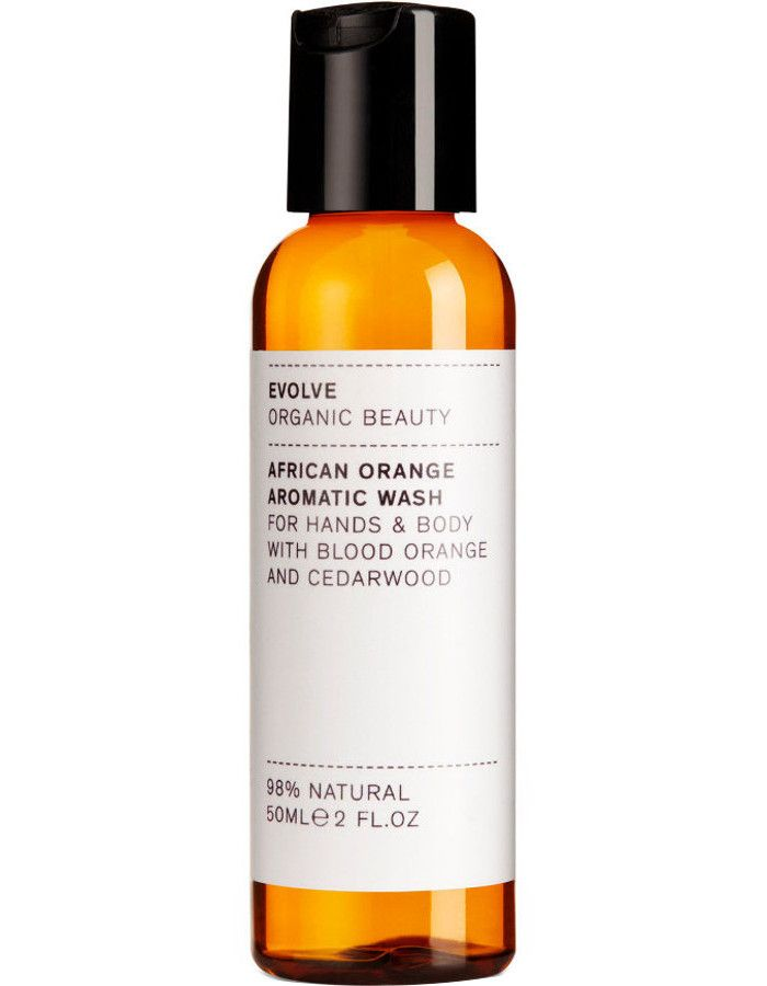 Evolve Organic Beauty African Orange Aromatic Hand & Body Wash Travel Size 50ml