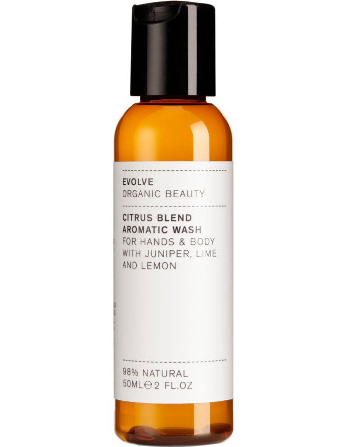 Evolve Organic Beauty Citrus Blend Aromatic Hand & Body Wash Travel Size 50ml
