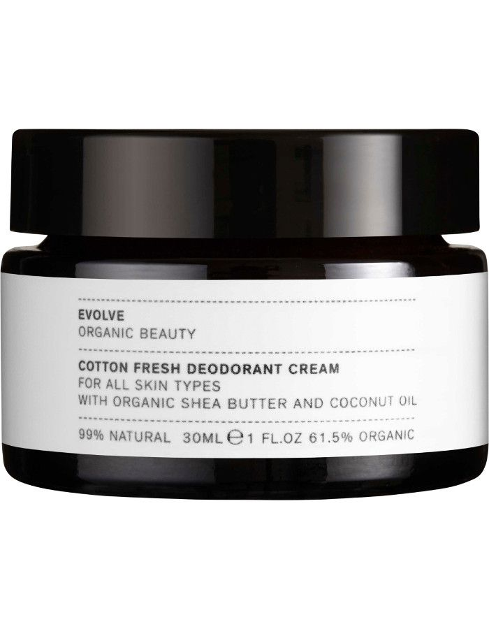 Evolve Organic Beauty Cotton Fresh Deodorant Cream 30ml