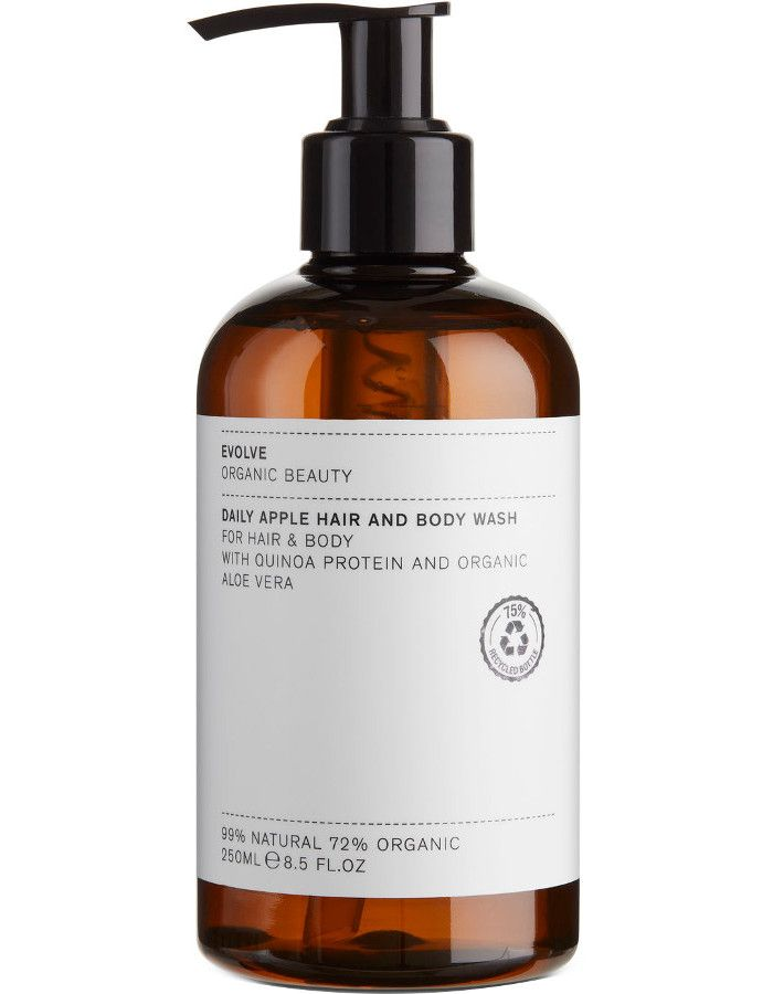 Evolve Organic Beauty Daily Apple Hair & Body Wash 250ml