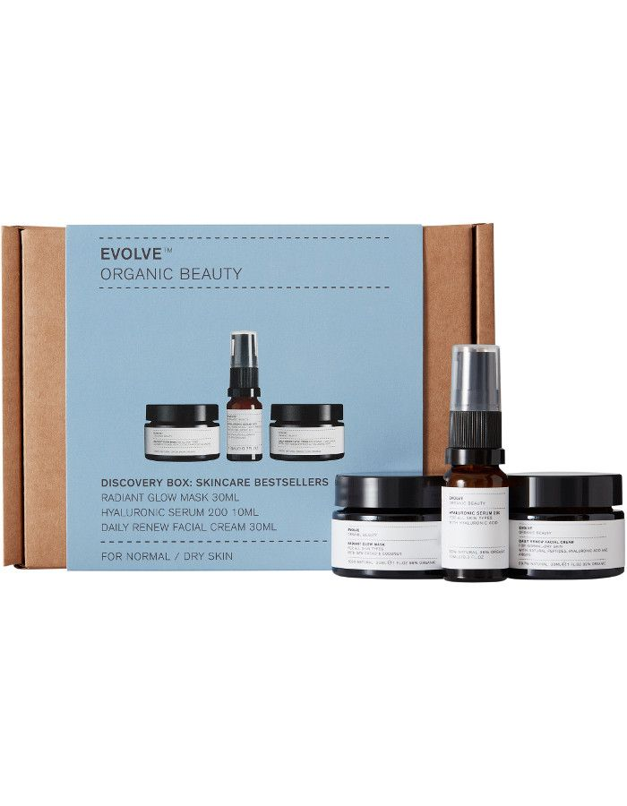 Evolve Organic Beauty Discovery Box Skincare Bestsellers 3-Delig