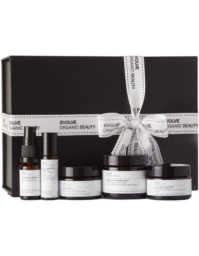 Evolve Organic Beauty Get Up And Glow Collection Set 5-Delig