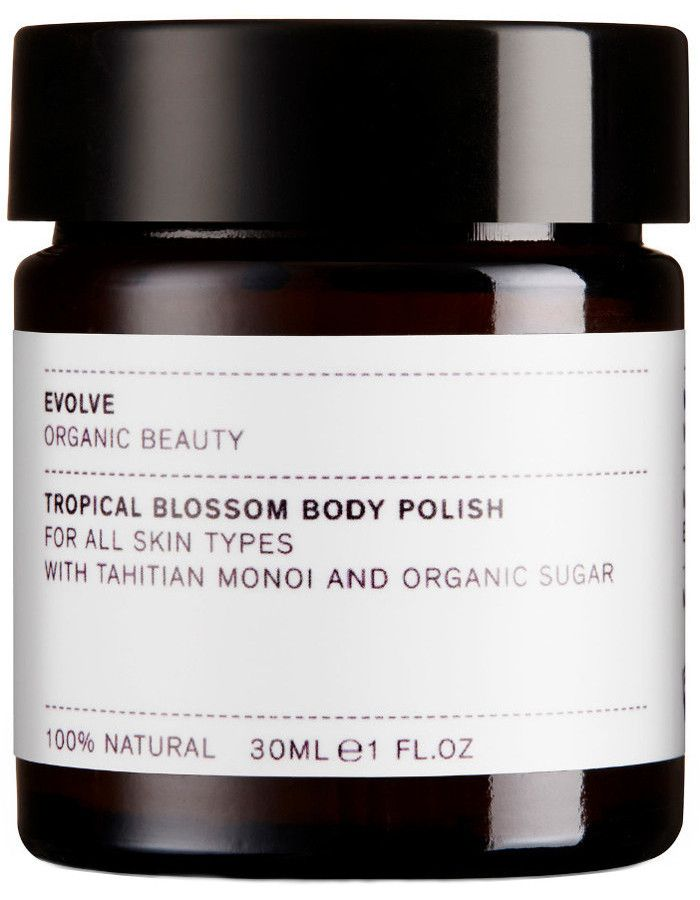 Evolve Organic Beauty Tropical Blossom Body Polish Travel Size 30ml