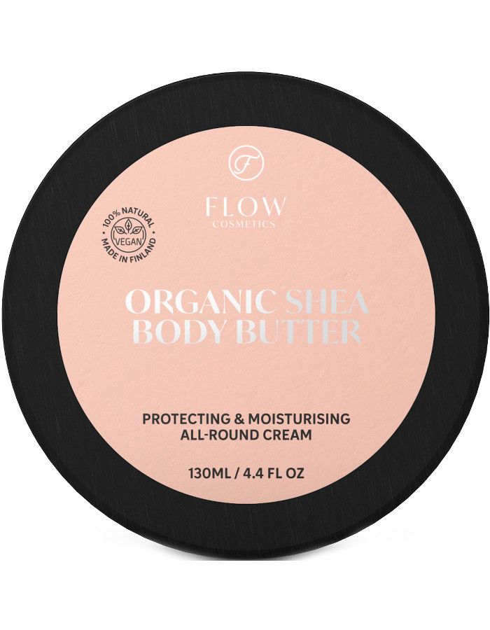 Flow Cosmetics Organic Shea Body Butter Protecting & Moisturising All Around Cream 130ml