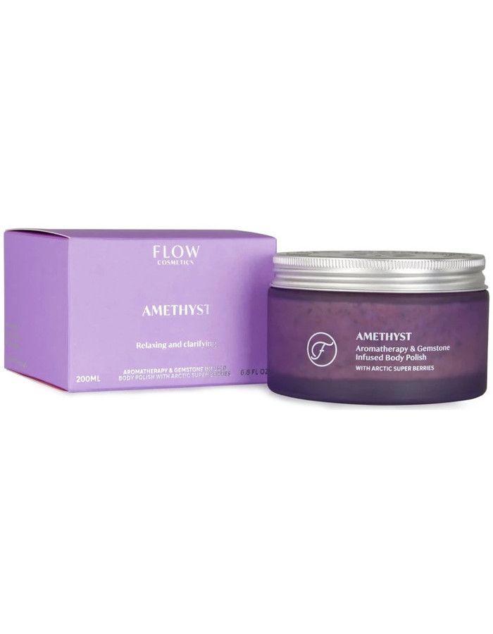 Flow Cosmetics Amethyst Aromatherapy & Edelsteen Bodypolish 200ml