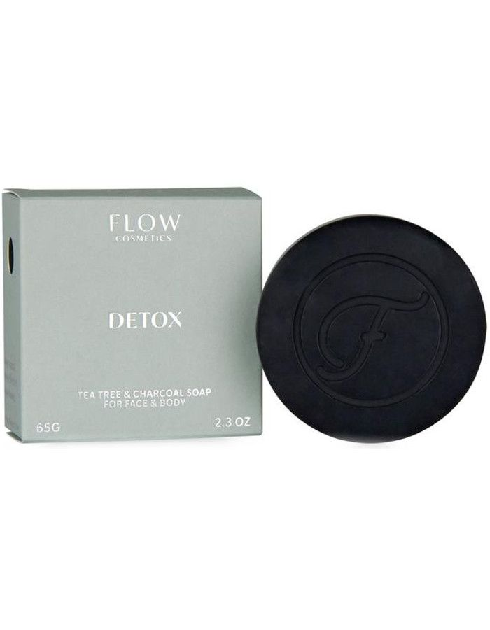 Flow Cosmetics Detox Facial Soap Tea Tree & Charcoal 65gr