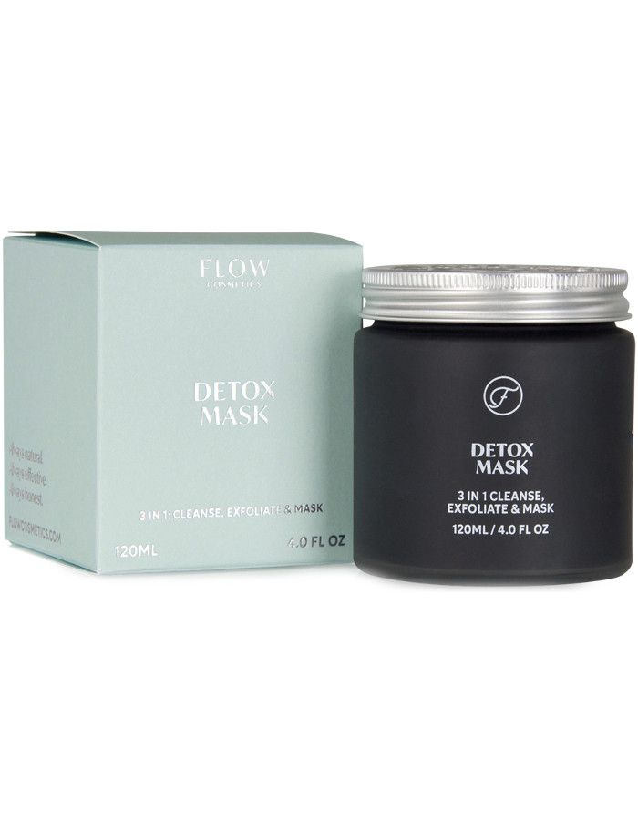 Flow Cosmetics Detox Mask 3in1 Cleanse, Exfoliate & Mask 120ml