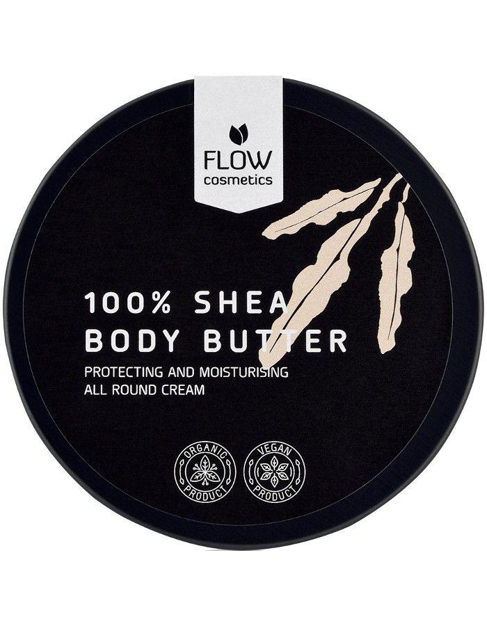 Flow Cosmetics Organic 100% Biologsche Sheabutter Naturel 130ml