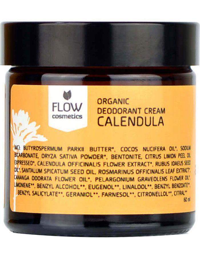 Flow Cosmetics Organic Deodorant Crème Calendulan 60ml