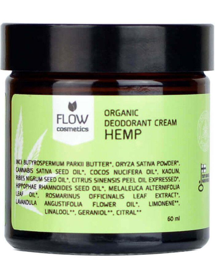 Flow Cosmetics Organic Deodorant Crème Hennep 60ml