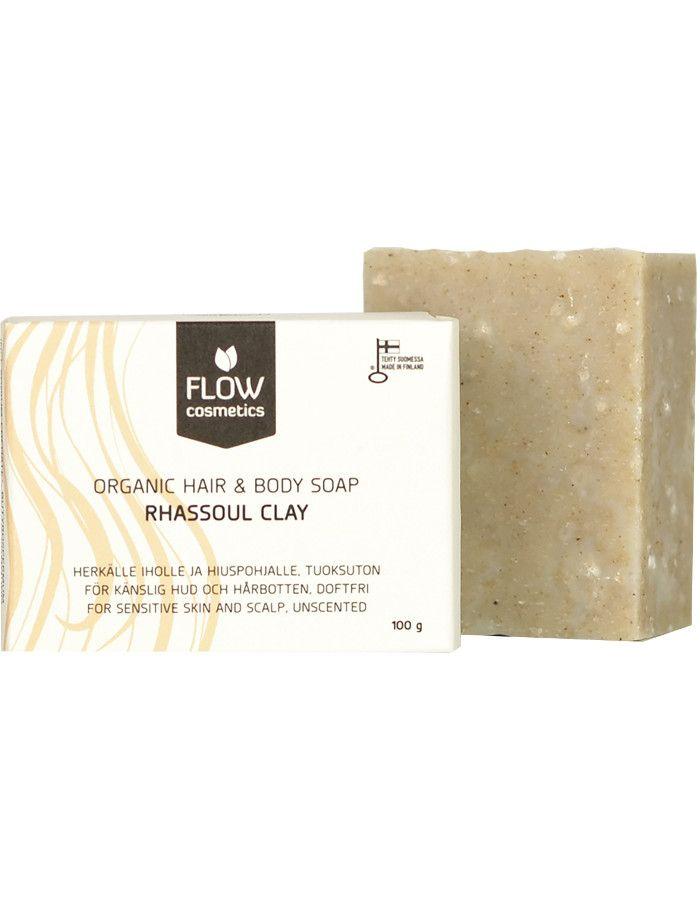 Flow Cosmetics Organic Hair & Body Soap Rhassoul Clay 100gr