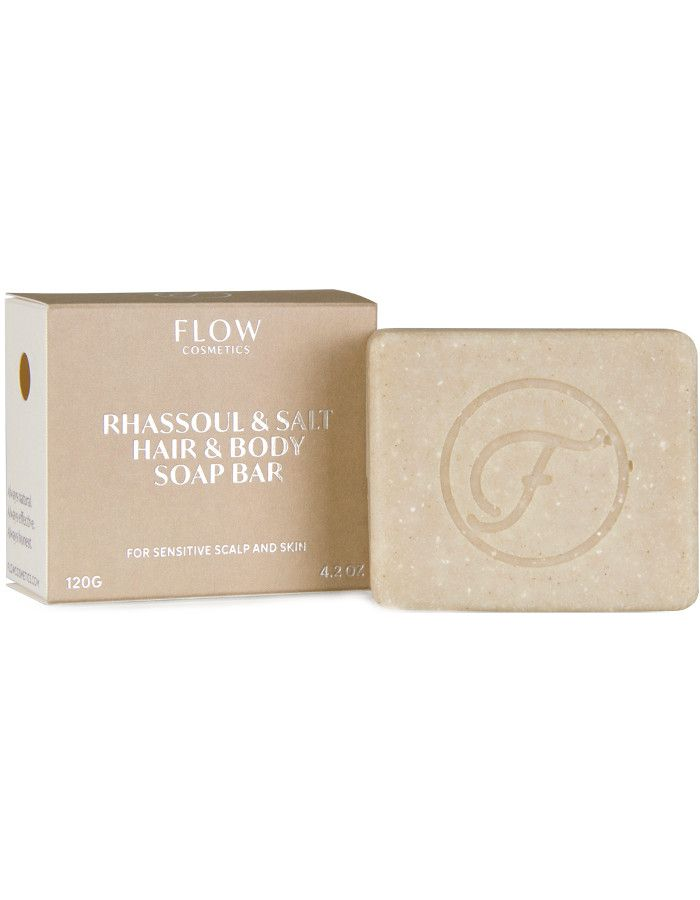 Flow Cosmetics Rhassoul & Salt Hair & Body Soap Bar 120gr