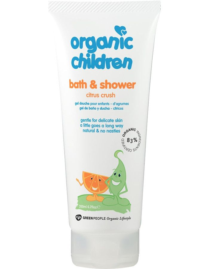 Green People Organic Children Bath & Showergel Citrus Crush 200ml