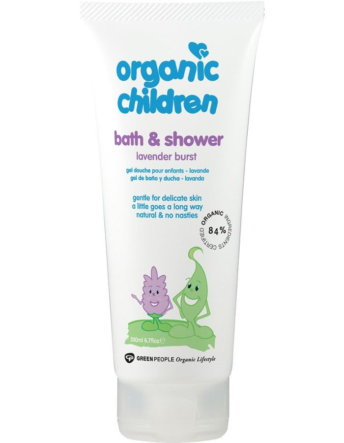 Green People Organic Children Bath & Showergel Lavender Burst 200ml