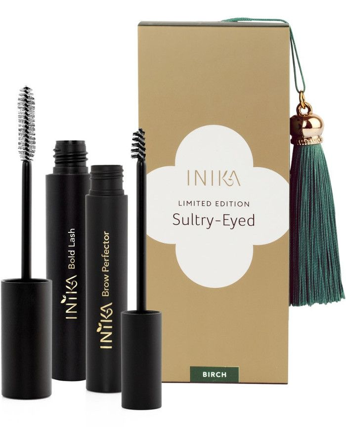 Inika Organic Sultry Eyed Lash & Brow Gift Set 2-Delig