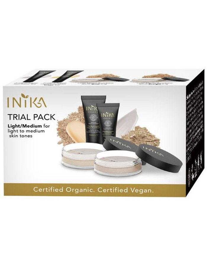 Inika Organic Trial Pack Light/Medium 4-Delig