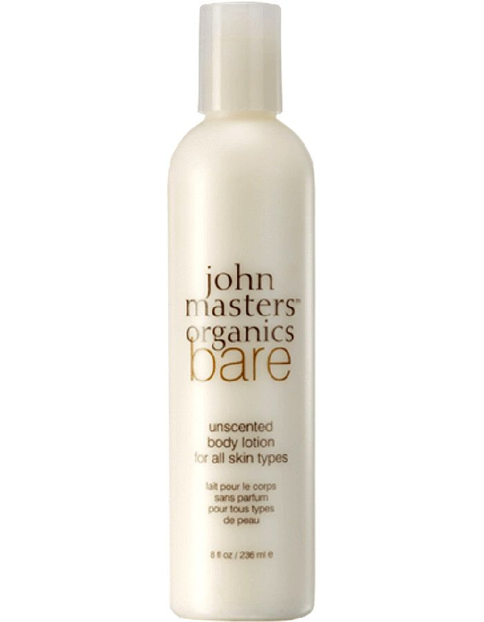 John Masters Organics BARE Unscented Body Lotion All Skin Types 236ml