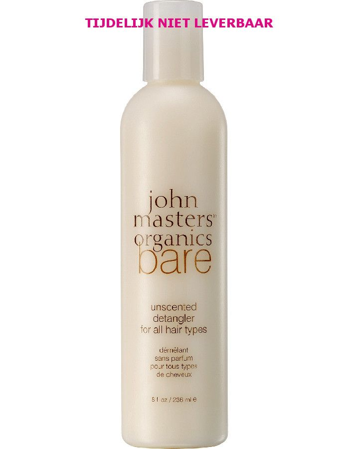John Masters Organics BARE Unscented Detangler For All Hair Types 236ml