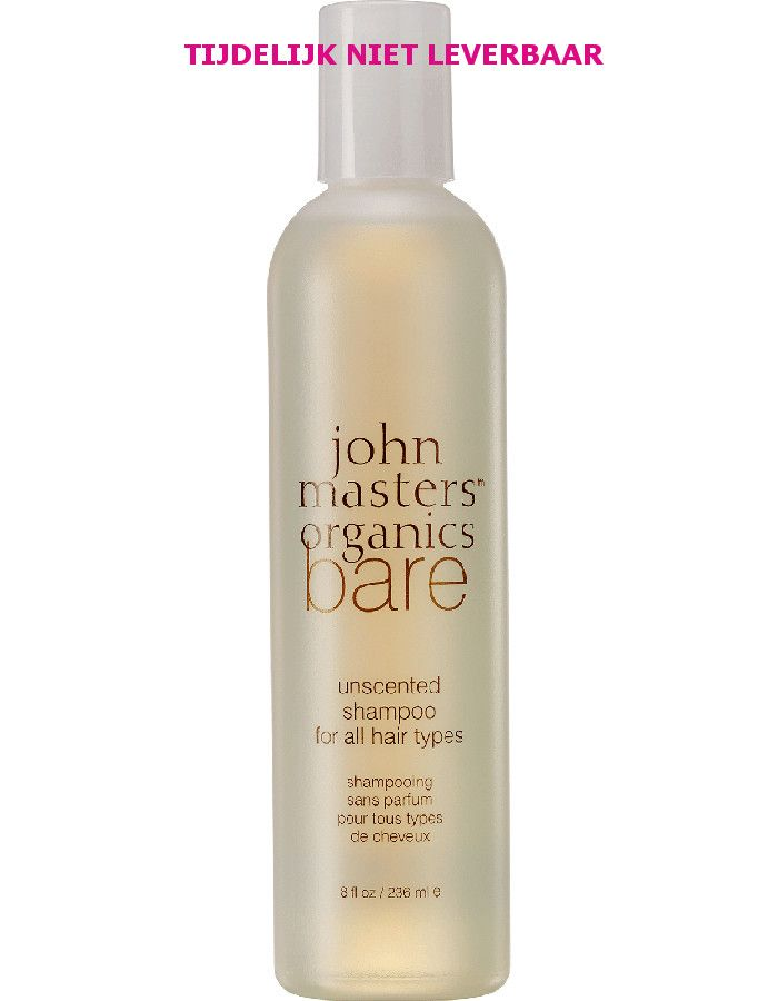 John Masters Organics BARE Unscented Shampoo For All Hair Types 236ml