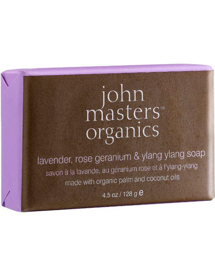 John Masters Organics Lavender Rose Geranium & Ylang Ylang Soap 128gr
