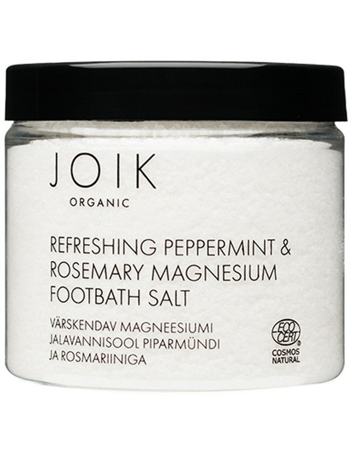 Joik Organic Refreshing Peppermint & Rosemary Magnesium Footbath Salt 230gr