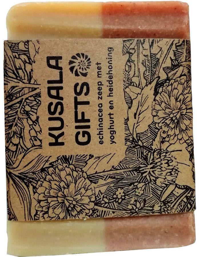 Kusala Gifts Natuurlijke Zeep Echinacea Met Yoghurt En Heidehoning 100gr