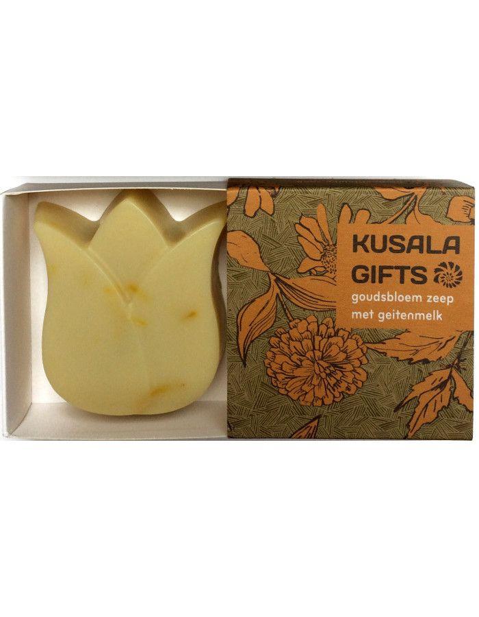 Kusala Gifts Natuurlijke Zeep Goudsbloem Met Geitenmelk Tulp 80gr
