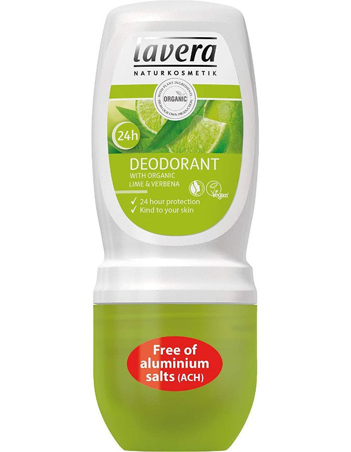 Lavera 24H Deodorant Roller Organic Lime & Verbena 50ml