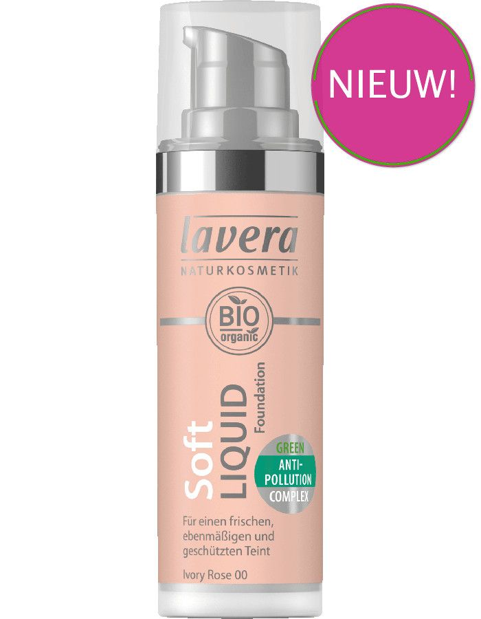 Lavera Bio Organic Soft Liquid Foundation 00 Ivory Rose 30ml