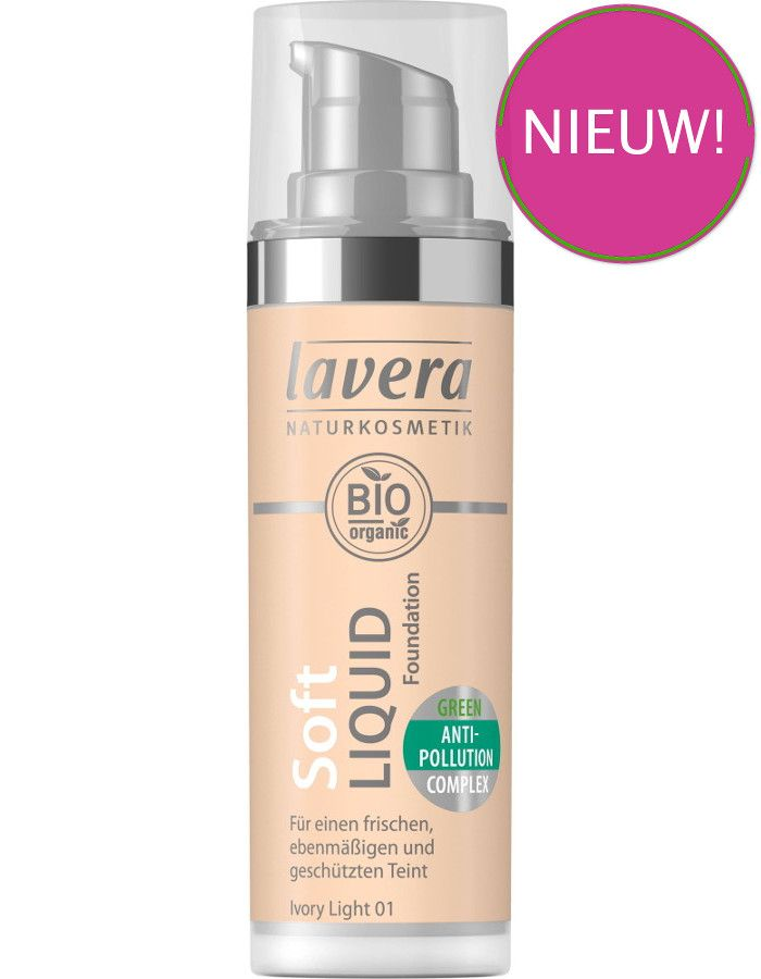 Lavera Bio Organic Soft Liquid Foundation 01 Ivory Light 30ml