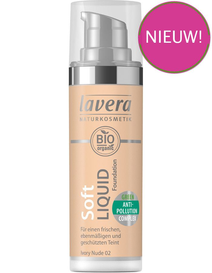 Lavera Bio Organic Soft Liquid Foundation 02 Ivory Nude 30ml