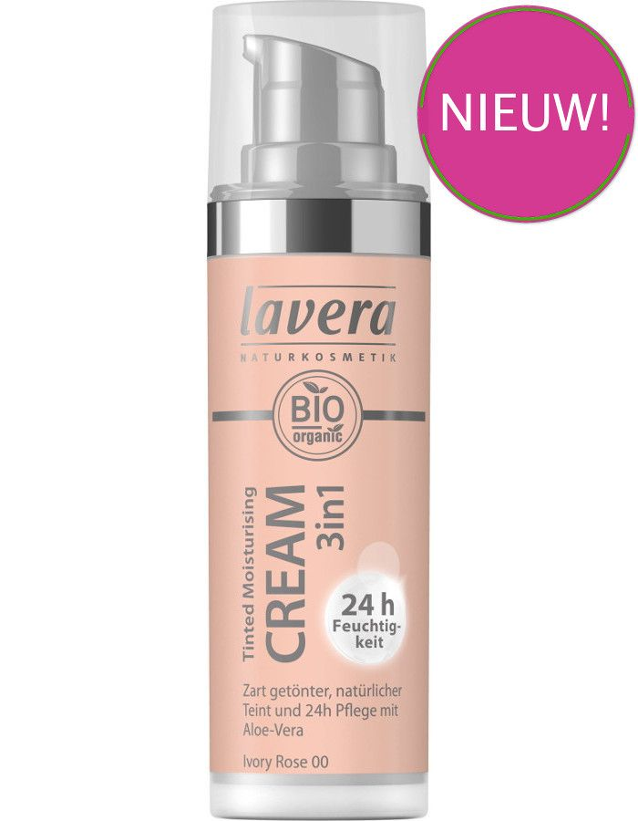 Lavera Bio Organic Tinted Moisturizing Cream 3in1 00 Ivory Rose 30ml
