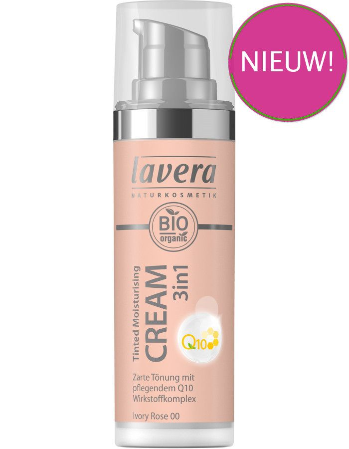 Lavera Bio Organic Tinted Moisturizing Cream 3in1 Q10 00 Ivory Rose 30ml