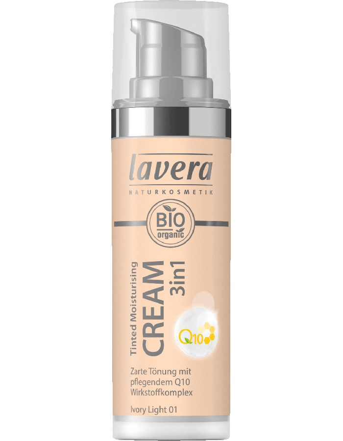 Lavera Bio Organic Tinted Moisturizing Cream 3in1 Q10 01 Ivory Light 30ml