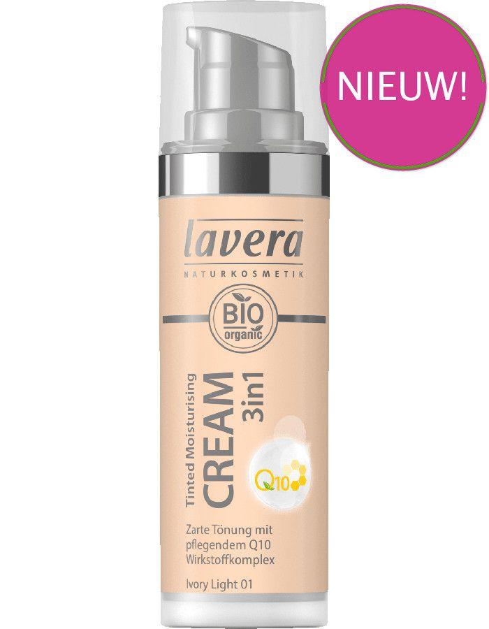 Lavera Bio Organic Tinted Moisturizing Cream 3in1 Q10 01 Ivory Light 30ml