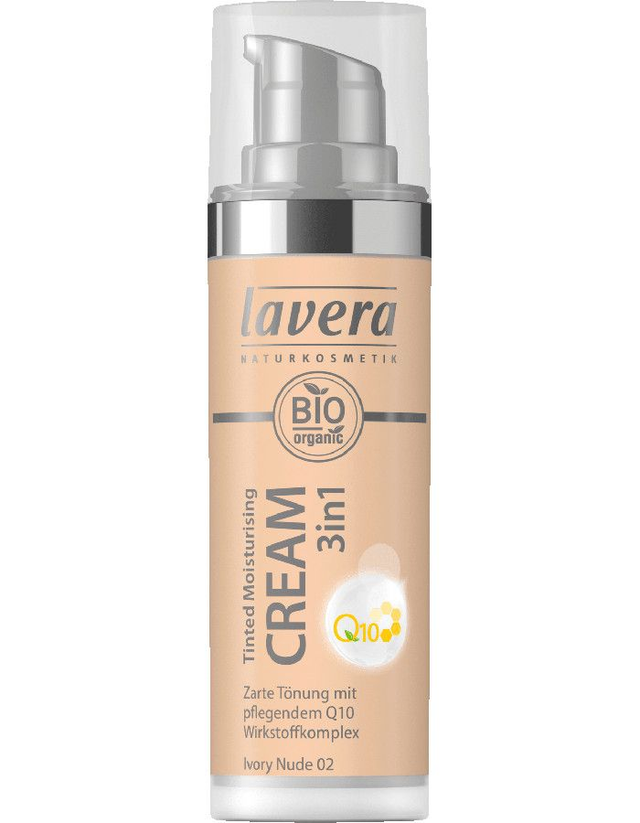Lavera Bio Organic Tinted Moisturizing Cream 3in1 Q10 02 Ivory Nude 30ml