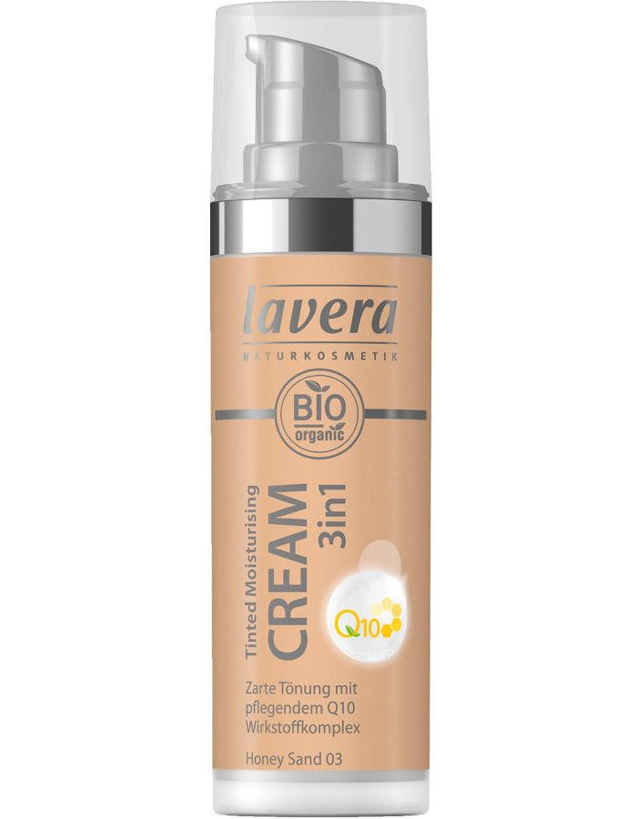 Lavera Bio Organic Tinted Moisturizing Cream 3in1 Q10 03 Honey Sand 30ml