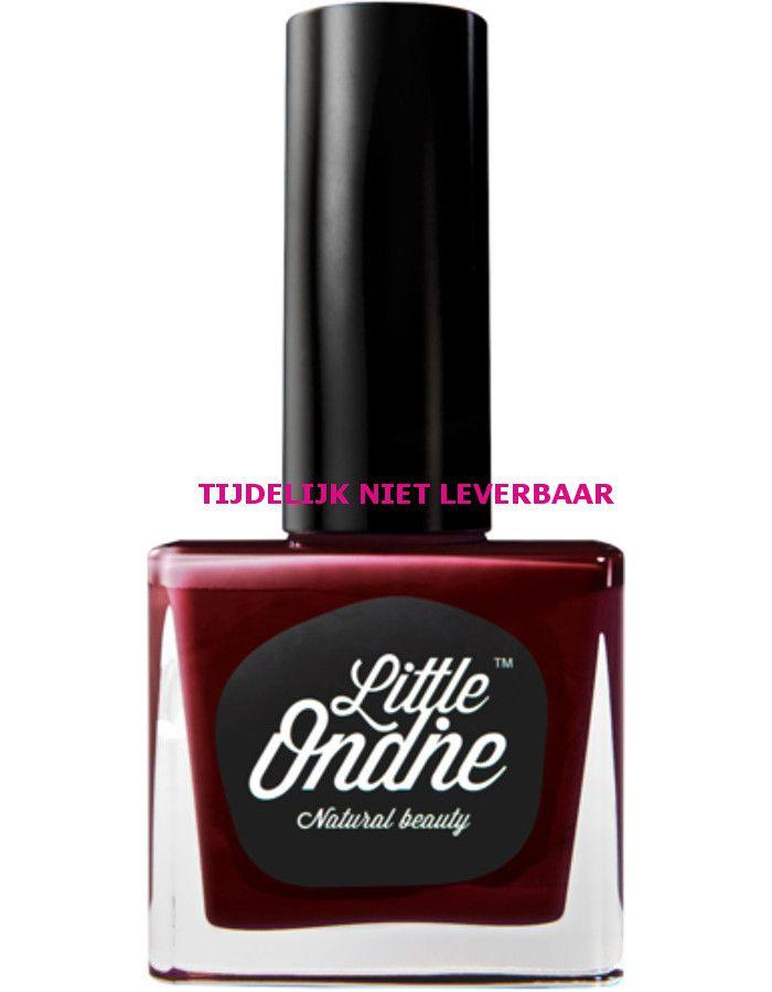 Little Ondine Natuurlijke Peel Off Nagellak Op Waterbasis L061 Red Red Wine Dark Scarlet