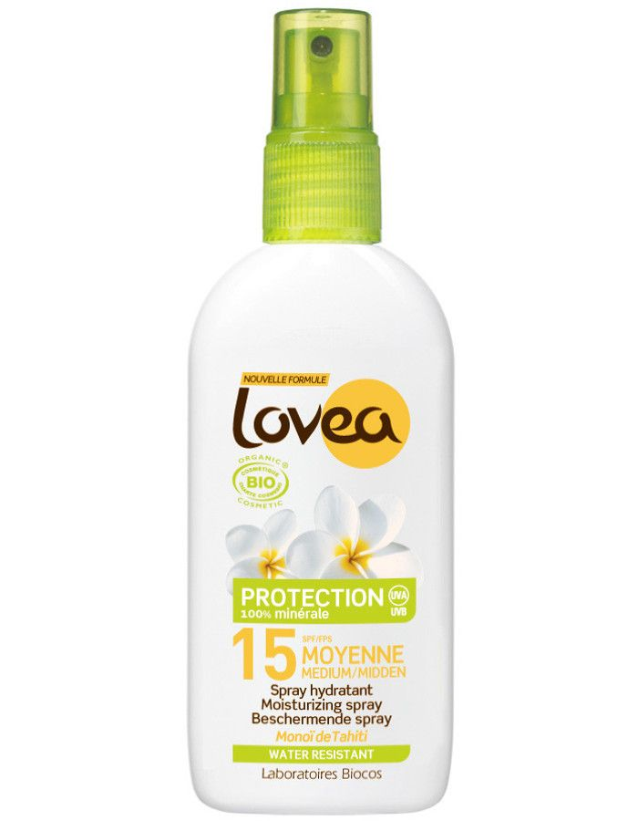 Lovea Biologische Zonnebrand Spray Spf15 125ml
