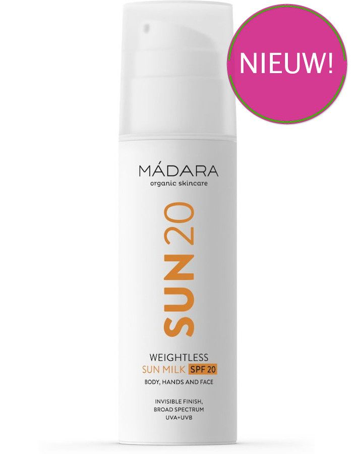 Mádara Weightless Zonnebrandmelk Spf20 150ml