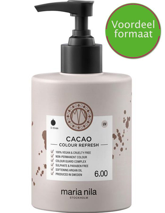 Maria Nila Colour Refresh Haarmasker 6.00 Cacao 300ml