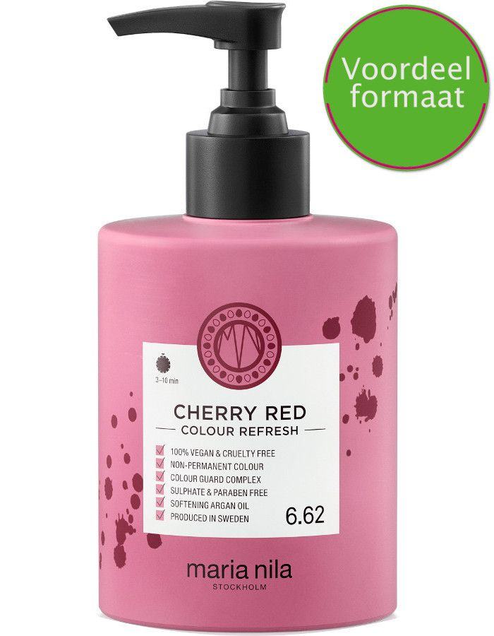 Maria Nila Colour Refresh Haarmasker 6.62 Cherry Red 300ml